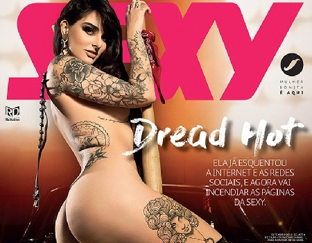 Dread Hot Nua fotos na revista Sexy