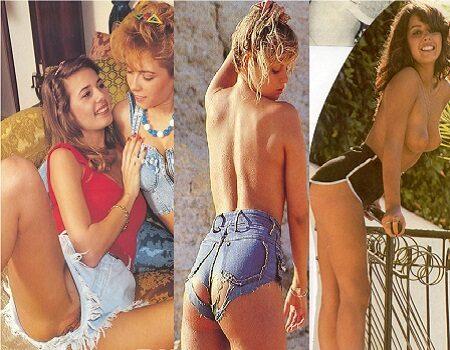 Mulheres vintage de shorts
