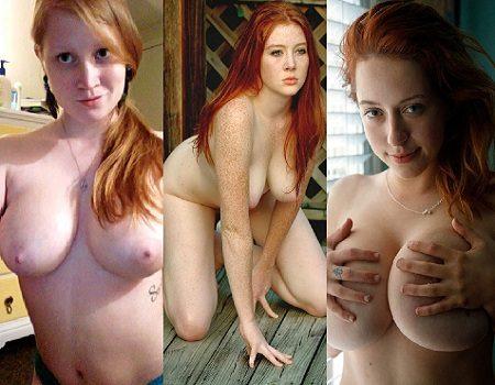 Ruivas gostosas e Peitudas Fotos Pornô