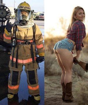 Mulheres de uniforme Sem uniforme